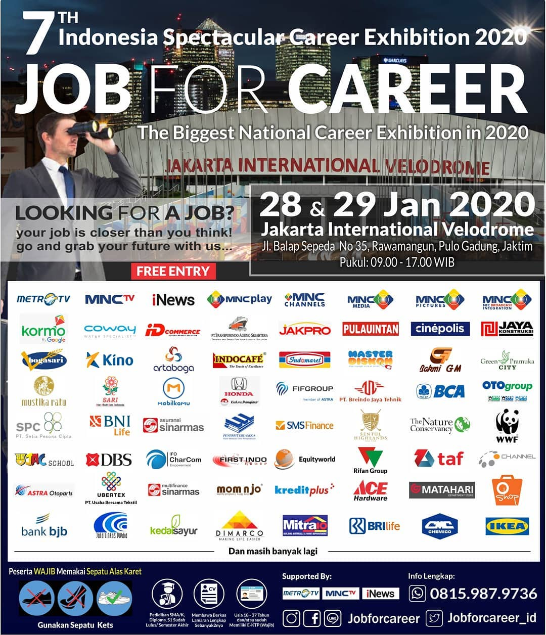 """The 7Th Indonesia Spectacular Startup & Career Exhibition """"JOB FOR CAREER"""" - Januari 2020"""