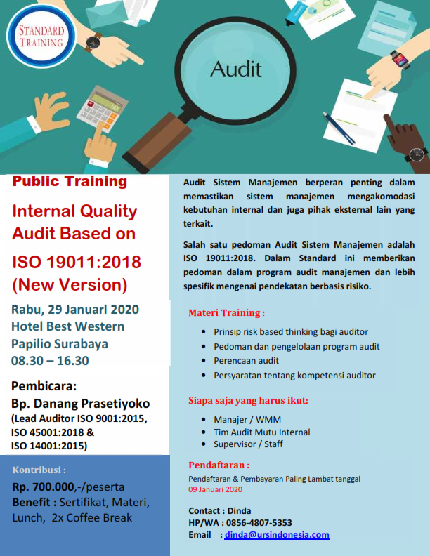 Internal Quality Audit Based on ISO 19011:2018 (New Version)