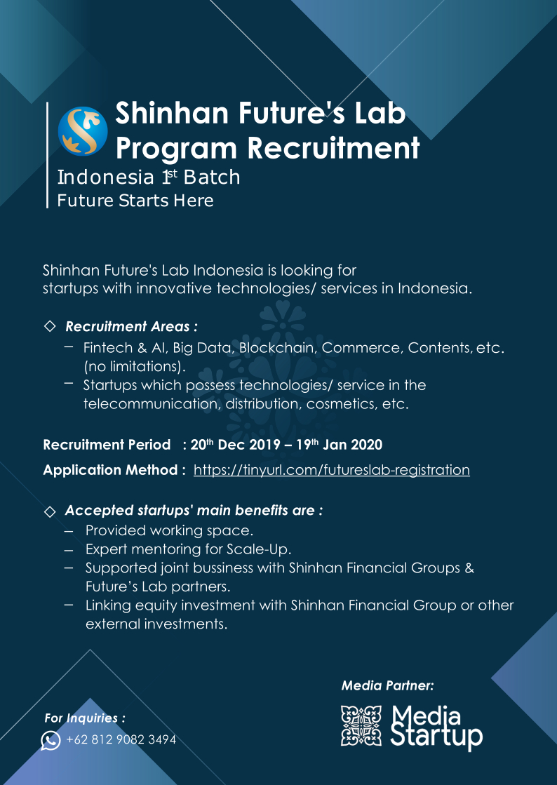 Open Application - Startup Acceleration Program from Shinhan Future's Lab Indonesia