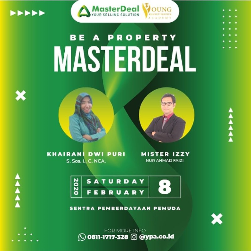 WORKSHOP YPA SALES – BE A PROPERTY MASTER DEALS