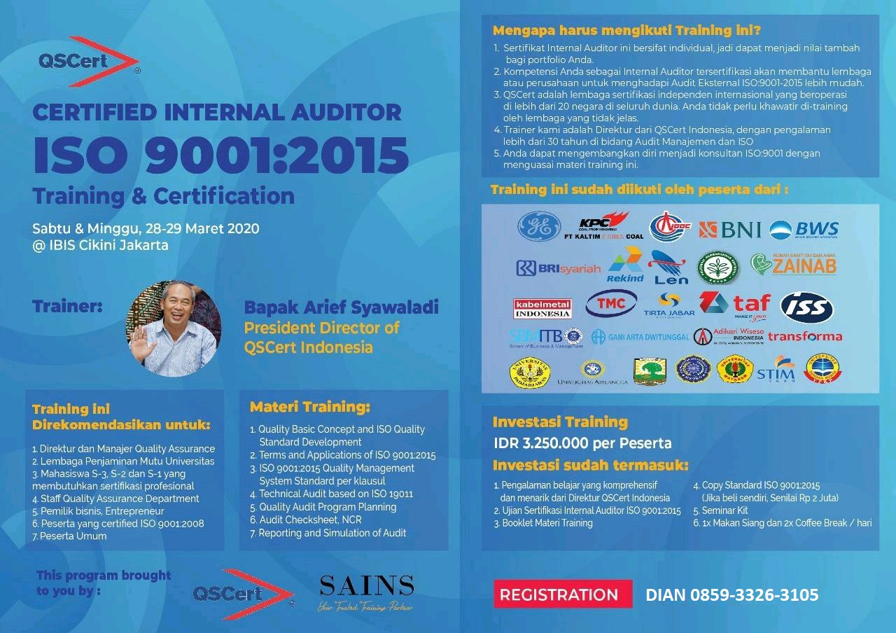 CERTIFIED INTERNAL AUDITOR ISO 9001:2015 Training & Certification