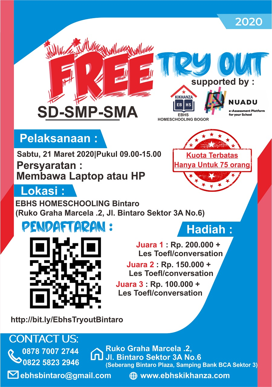 TRY OUT GRATIS SD, SMP, SMA