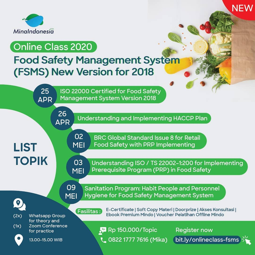 Online Class 2020: Food Safety Management System