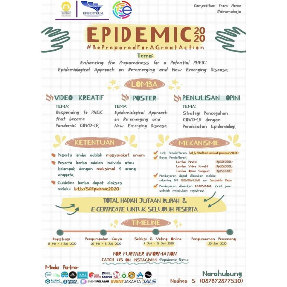 [COMPETITION FROM HOME #dirumahaja] – Epidemiologist in Action (EPIDEMIC) 2020 FKM UI