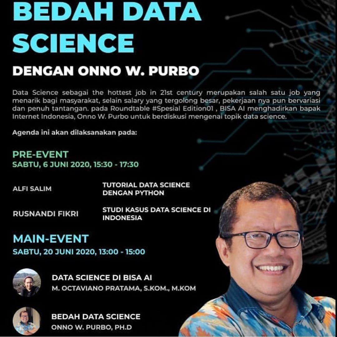 Roundtable Special Edition#01 - MAIN EVENT Bedah Data Science dengan Onno W Purbo