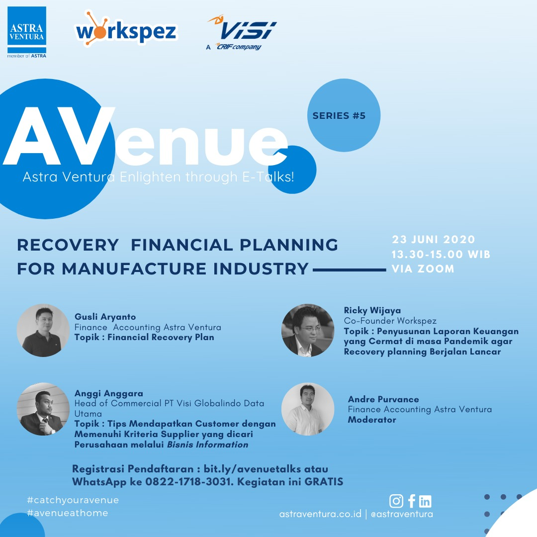 [Webinar] RECOVERY FINANCIAL PLANNING FOR MANUFACTURE INDUSTRY