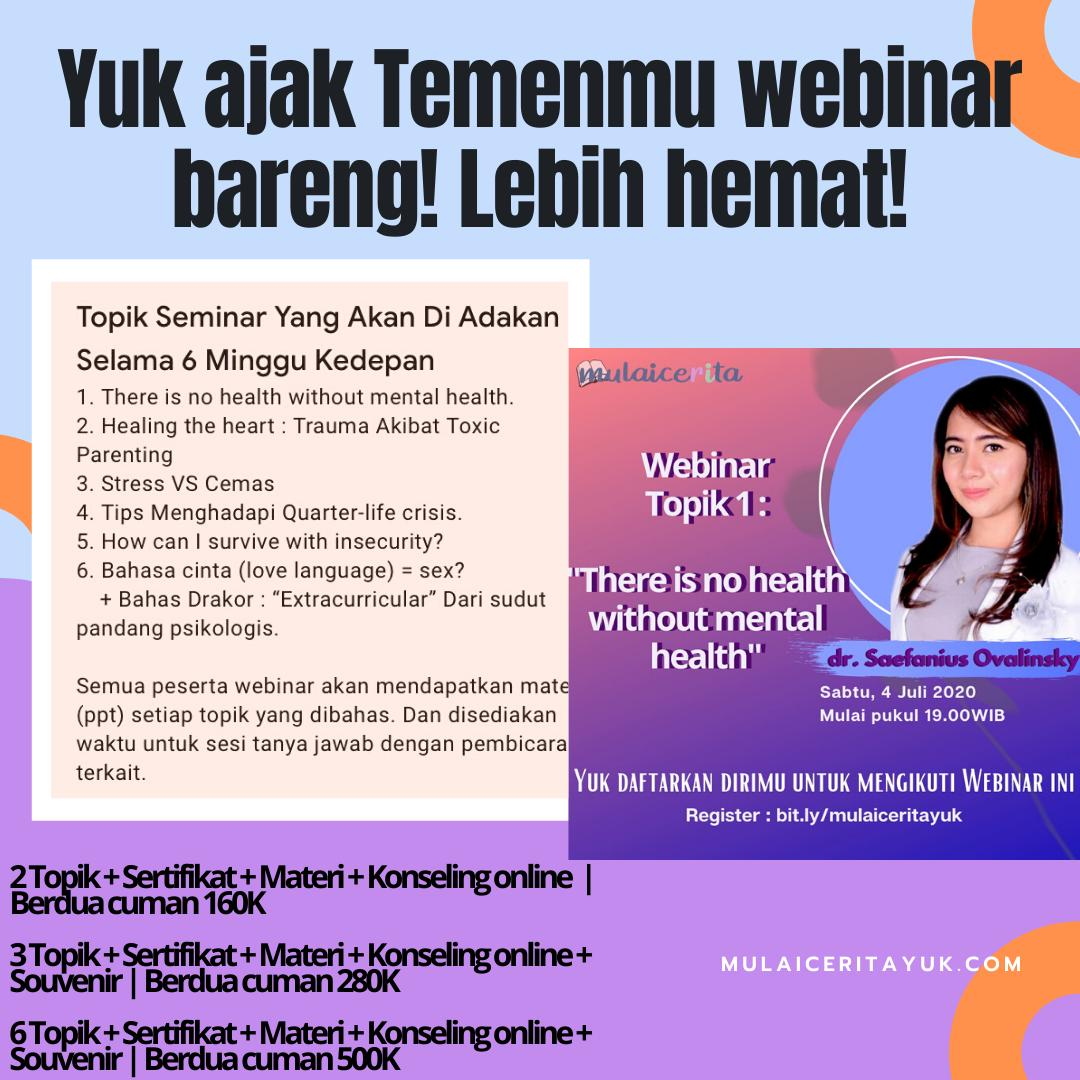 """Online Class, """"There Is No Health, Without Mental Health."""""""