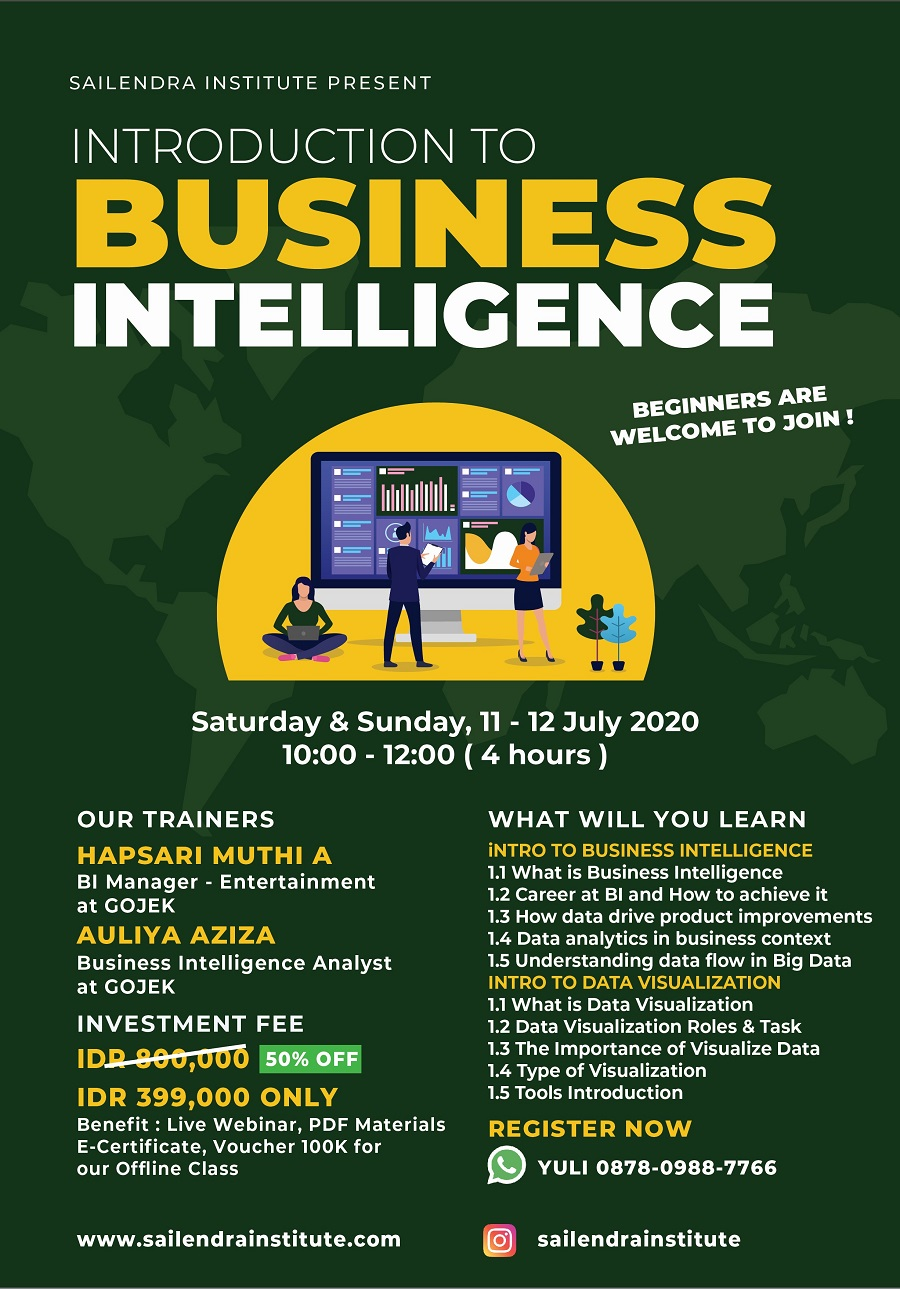 Online Class Introduction to Business Intelligence by Sailendra Institute