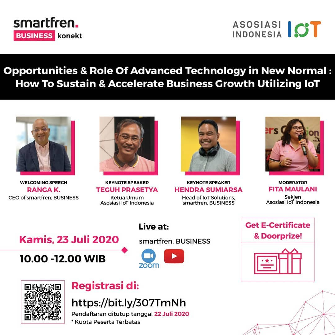 """Webinar: """"Opportunities & Role of Advanced Technology in New Normal: How to Sustain & Accelerate Business Growth Utilizing IoT"""""""
