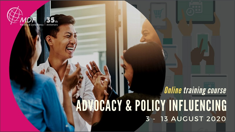 Advocacy and Policy Influencing (Online course)