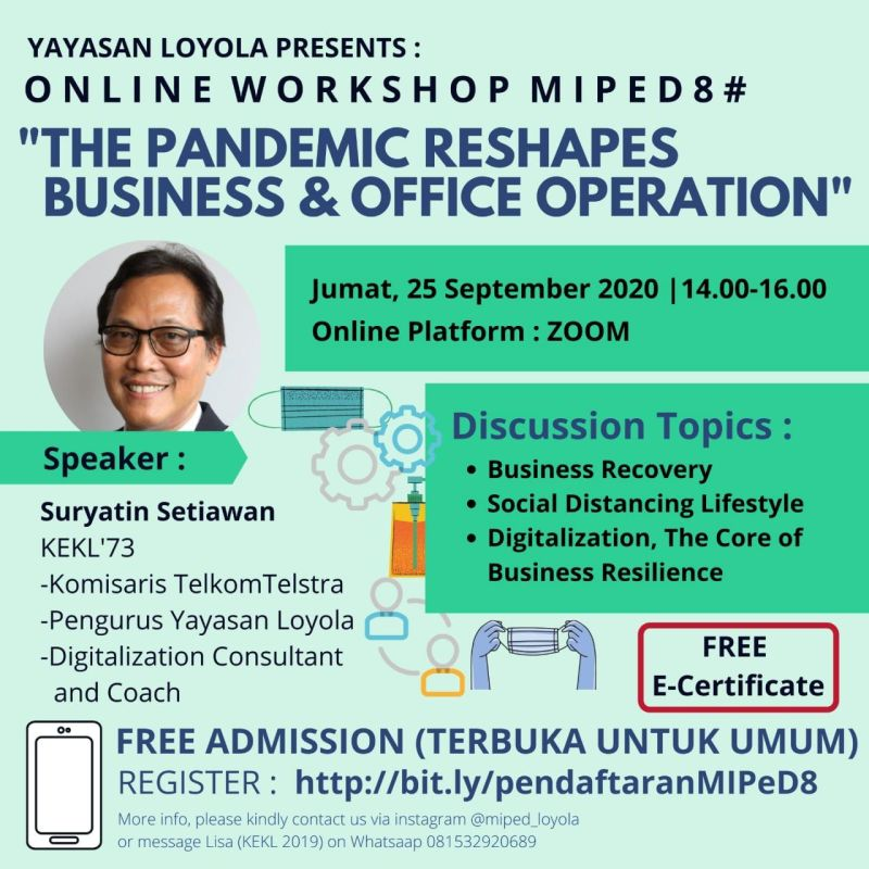 """Online Workshop MIPeD #8 """"The Pandemic Reshapes Business & Office Operation"""""""
