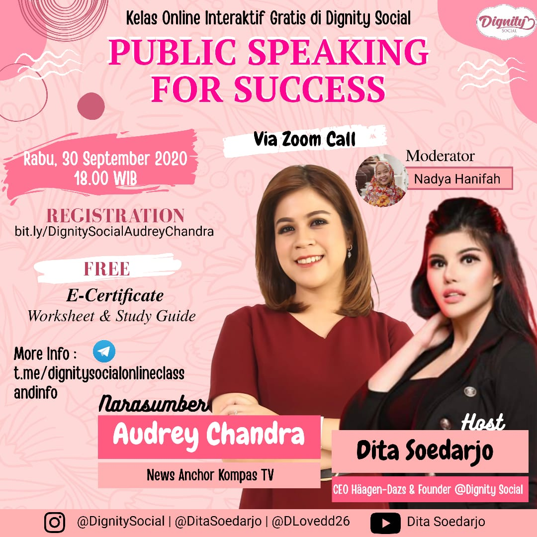 """""""PUBLIC SPEAKING FOR SUCCESS"""" by Dignity Social"""