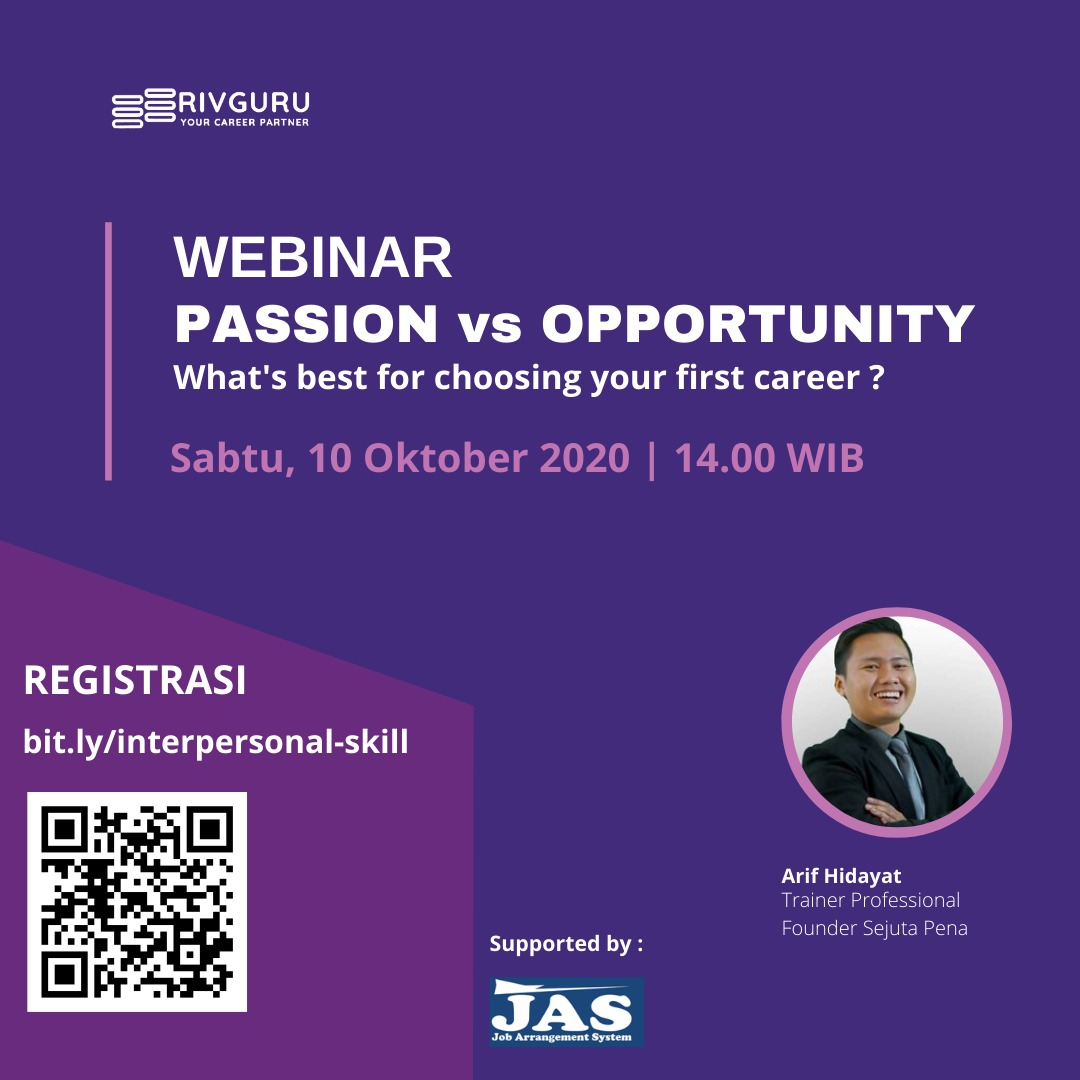 [Webinar] PASSION VS OPPORTUNITY - What's best for Choosing Your First Career?