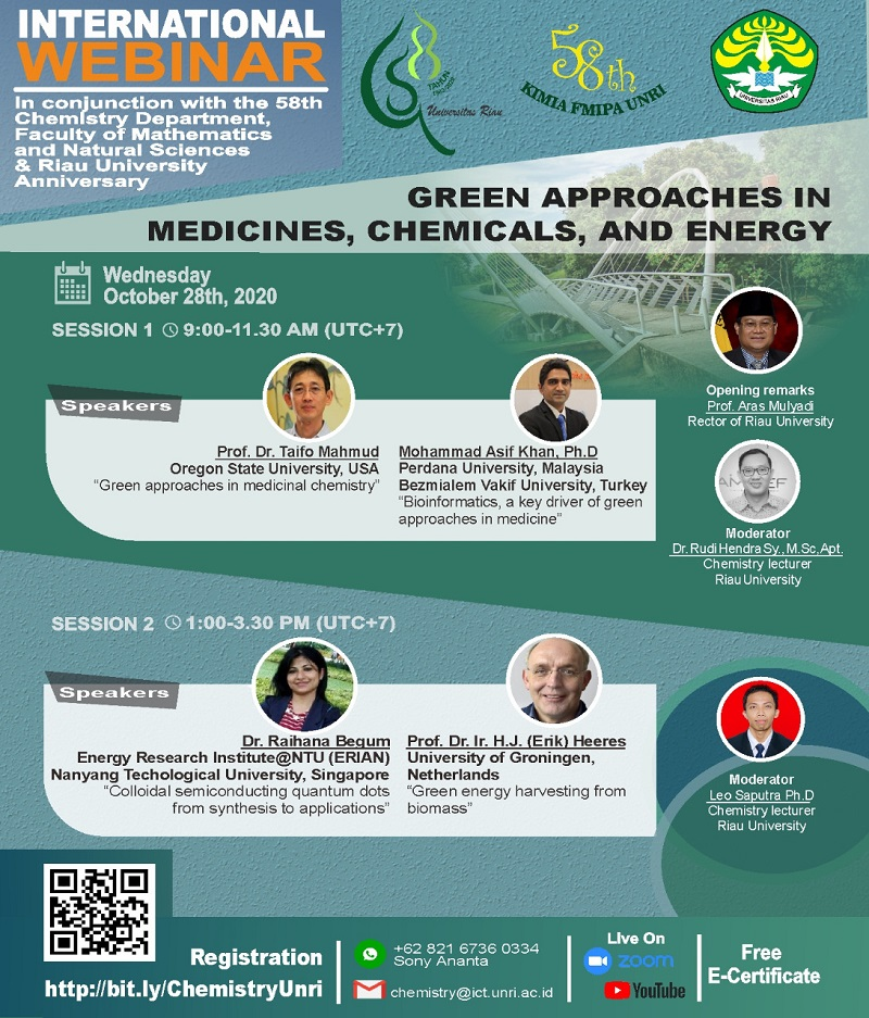 [Webinar] Green Approaches In Medicines, Chemicals, and Energy