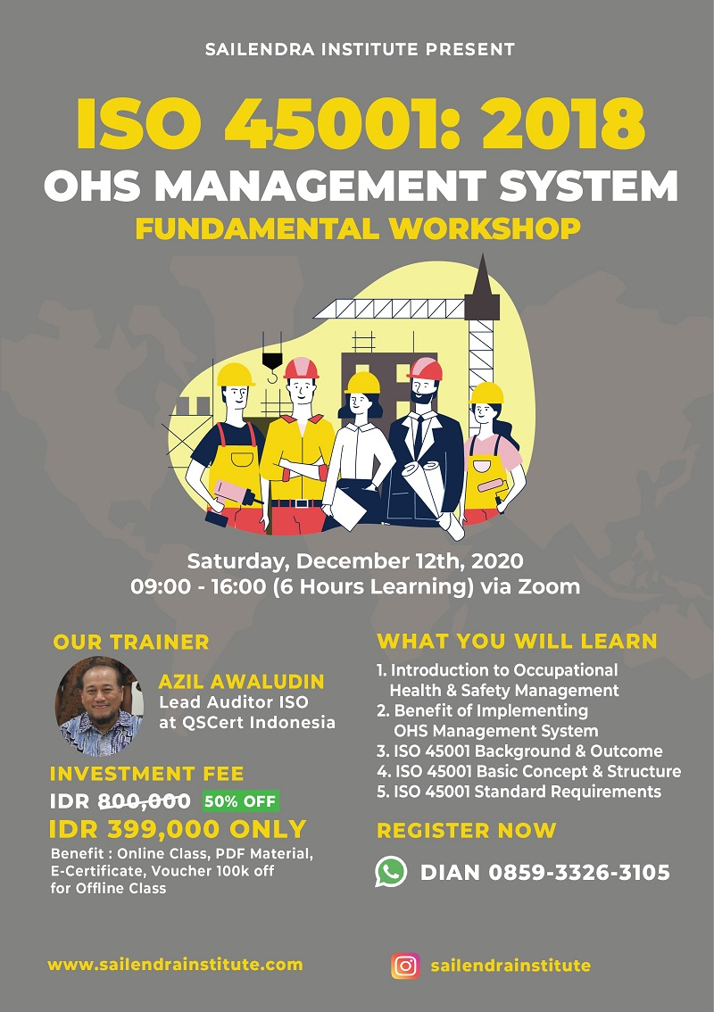 Workshop ISO 45001:2018 Occupational Health & Safety