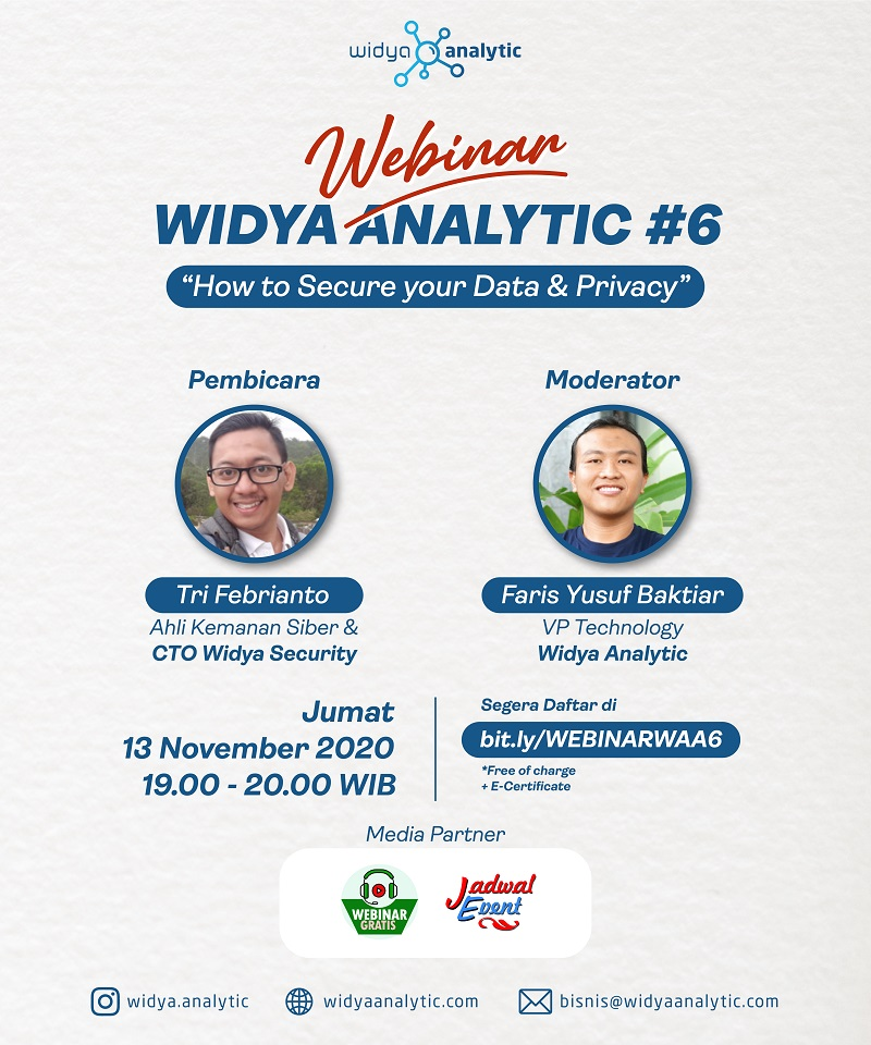 Webinar Widya Analytic Academy #6 - How To Secure Your Data & Privacy