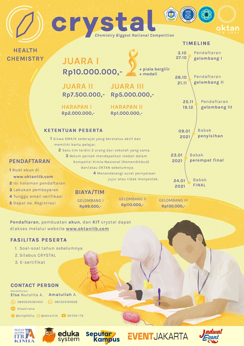 Chemistry Biggest National Competition (CRYSTAL) OKTAN ITB 2021