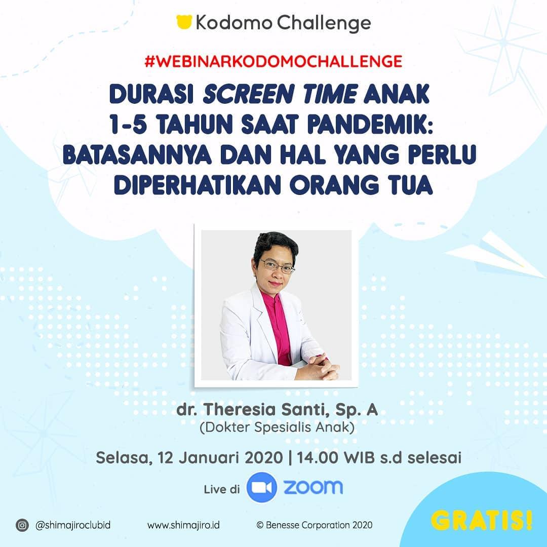 Webinar Kodomo Challenge Bersama dr Theresia Santi