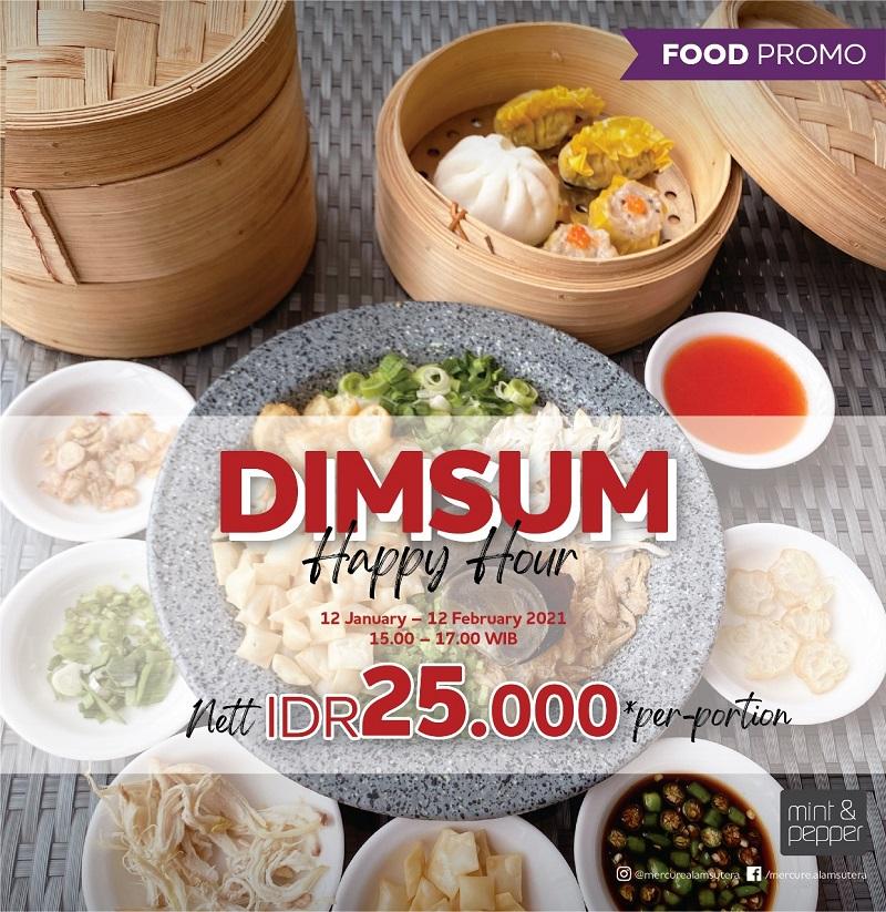 Dimsum Happy Hour di Mint and Pepper Restaurant by Mercure Serpong Alam Sutera