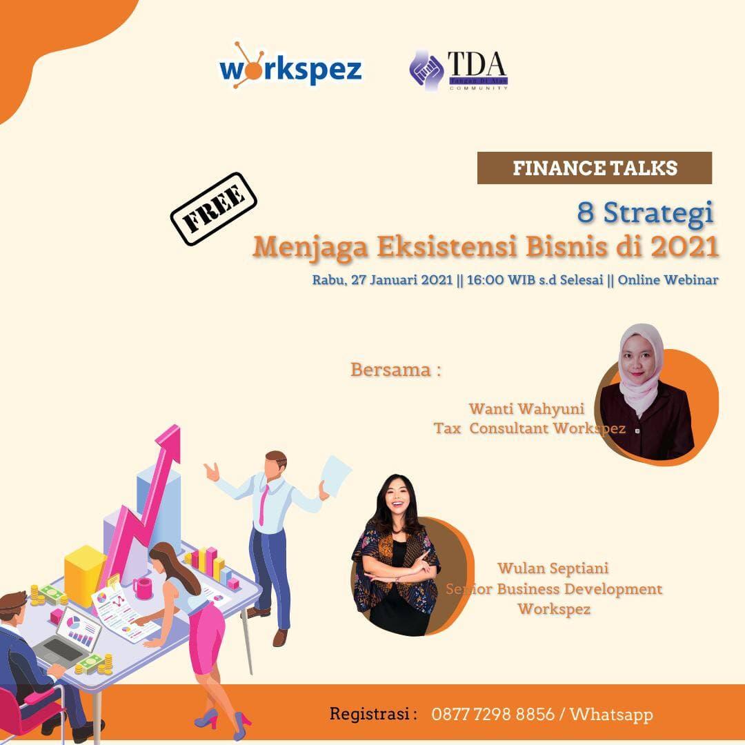 Finance Talks - 8 Strategi Menjaga Eksistensi Bisnis di 2021