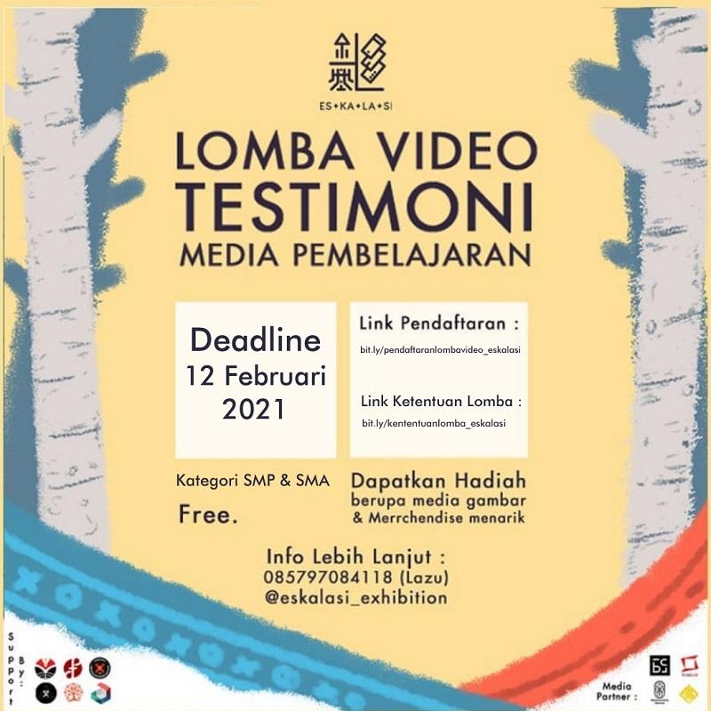 ROAD TO ESKALASI 2021 - Lomba Video Testimoni Media Pembelajaran
