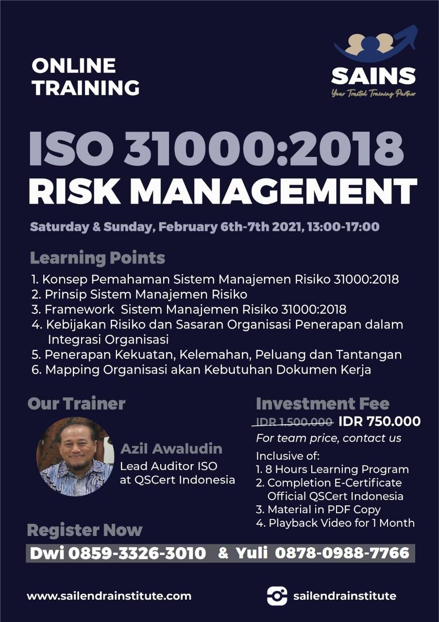 Training ISO 31000 Risk Management System
