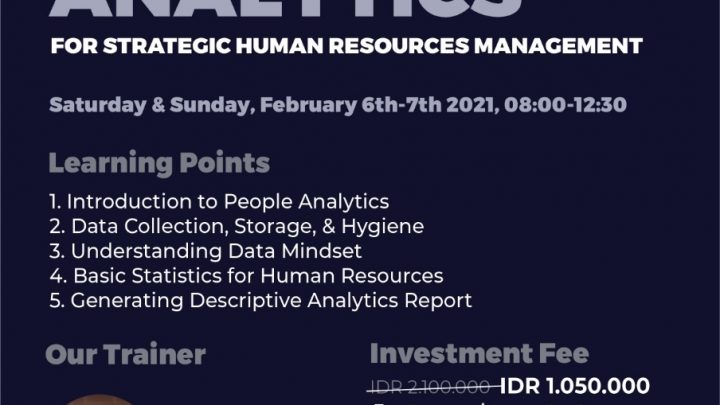 Training People Analytics for Strategic Human Resources Management