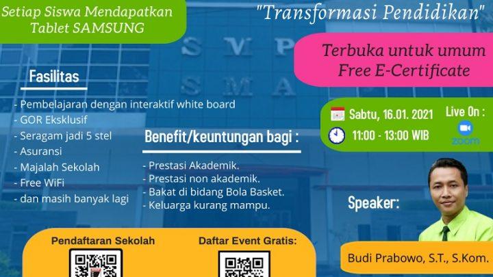 "Virtual Warga Talk ""Transformasi Pendidikan"""