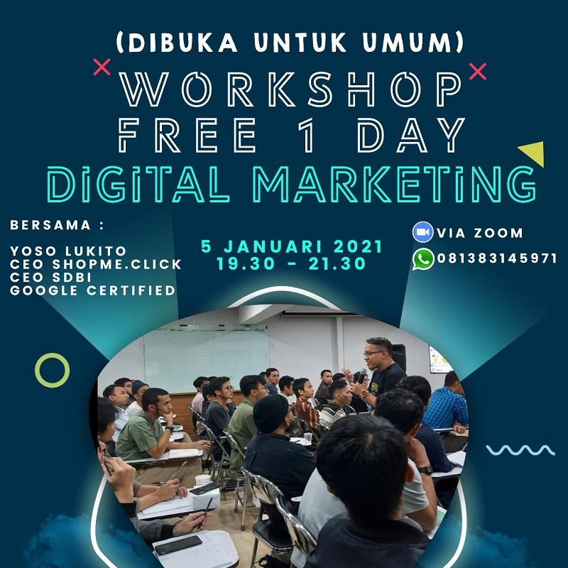 FREE WORKSHOP Online Trend Digital Marketing 2021