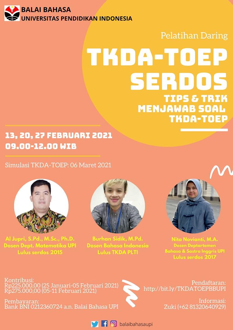 Pelatihan TKDA-TOEP Serdos