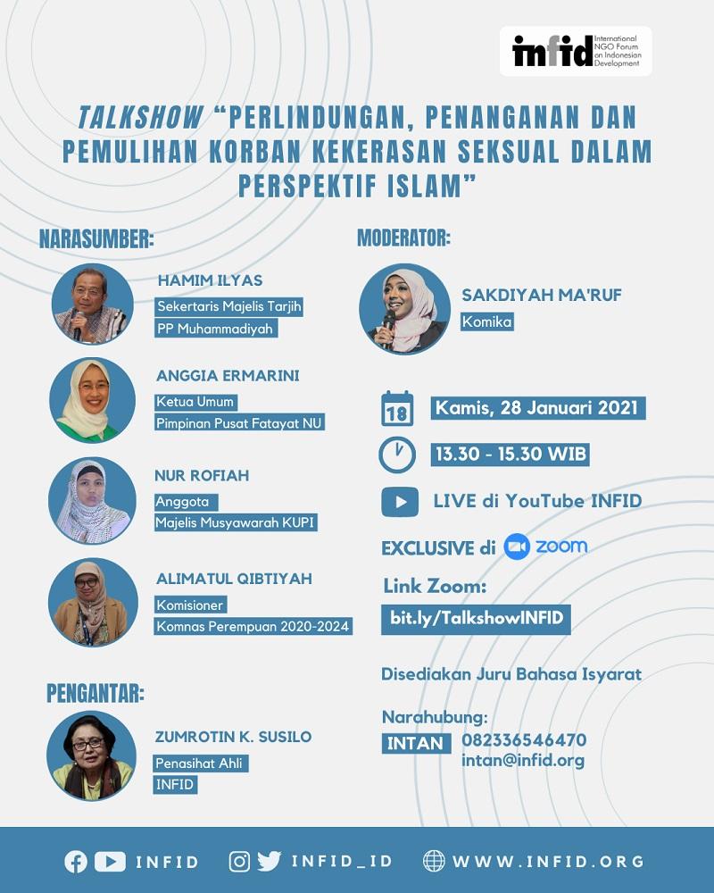 [Talkshow Perlindungan, Penanganan dan Pemulihan Korban Kekerasan Seksual dalam Perspektif Islam]
