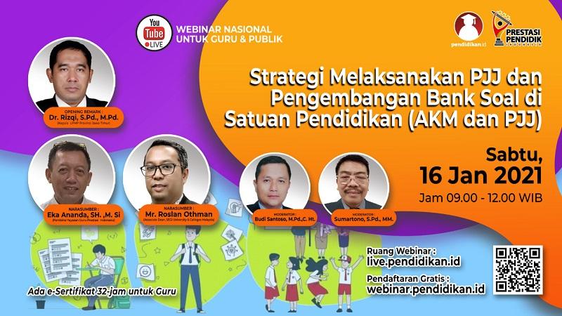 Strategi Melaksanakan PJJ dan Pengembangan Bank Soal di Satuan Pendidikan (AKM dan PJJ)