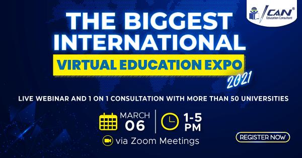 The Biggest International Virtual Education Expo – Maret 2021