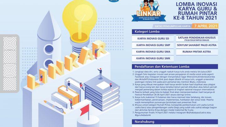 Lomba Inovasi Karya Guru & Rumah Pintar ke-8 Tahun 2021