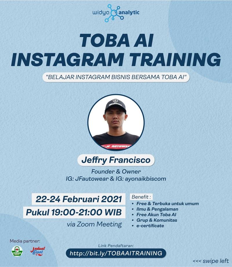 Kelas Instagram Bisnis TOBA AI