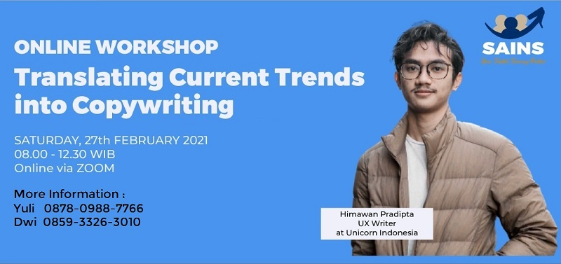 Workshop Copywriting – Online by Sailendra Institute