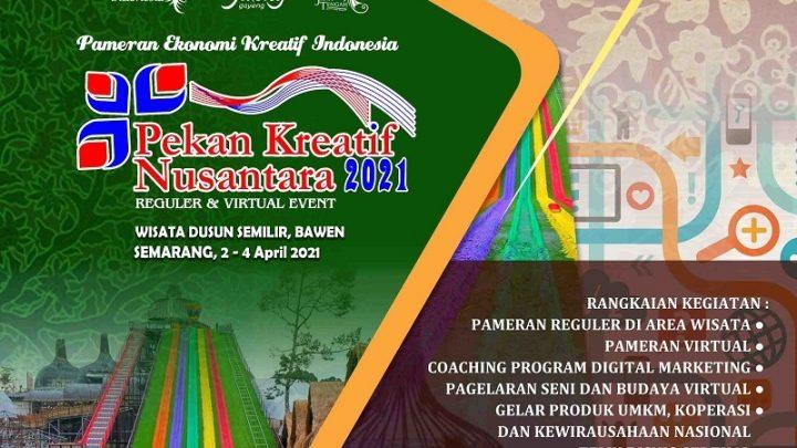 PEKAN KREATIF NUSANTARA 2021 PAMERAN EKONOMI KREATIF INDONESIA KE-8 TAHUN – SEMARANG