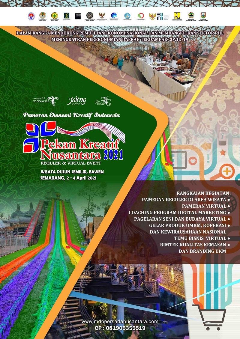 PEKAN KREATIF NUSANTARA 2021 PAMERAN EKONOMI KREATIF INDONESIA KE-8 TAHUN - SEMARANG