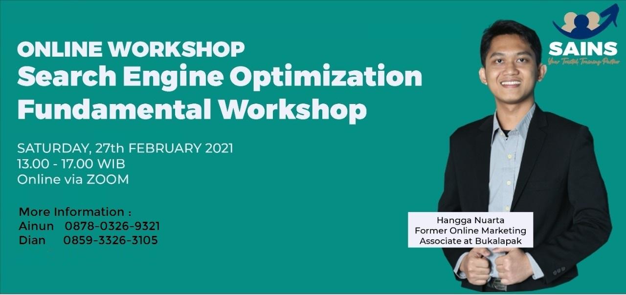 Workshop Search Engine Optimization – Online by Sailendra Institute