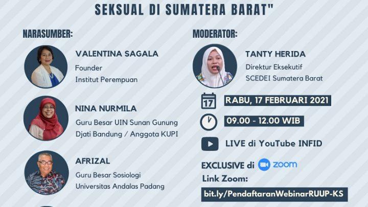 "[Webinar ""RUU Penghapusan Kekerasan Seksual: Payung Hukum untuk Menghentikan Kekerasan Seksual di Sumatera Barat""]"