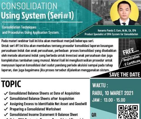 WEBINAR – Consolidation Using System ( SERI #1)
