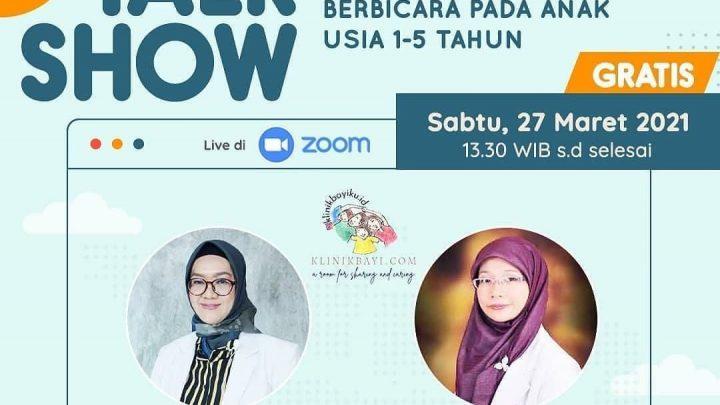 Talkshow Tanda Speech Delay & Stimulasi Perkembangan Berbicara Pada Anak Usia 1-5 Tahun