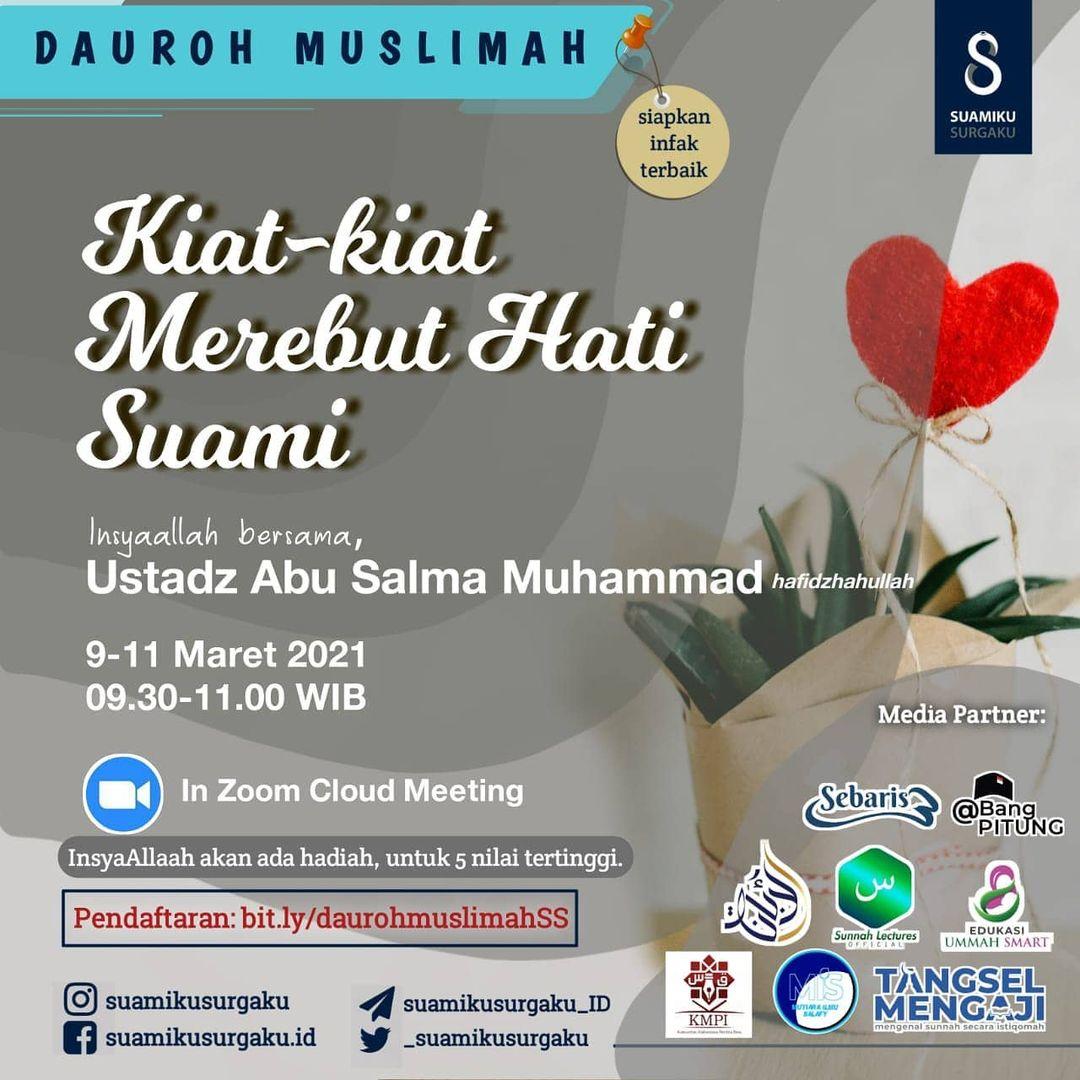 Dauroh Muslimah: Kiat-kiat merebut hati suami