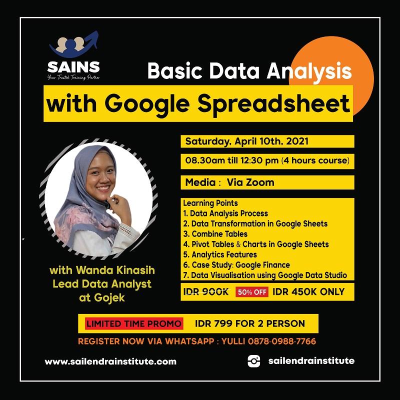 Basic Data Analysis with Google Spreadsheet Workshop