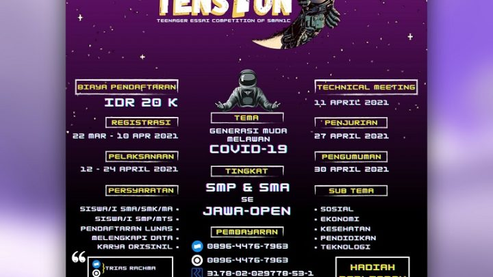 TENS1ON (Teenagers Essai Competition Of SMAN1C)
