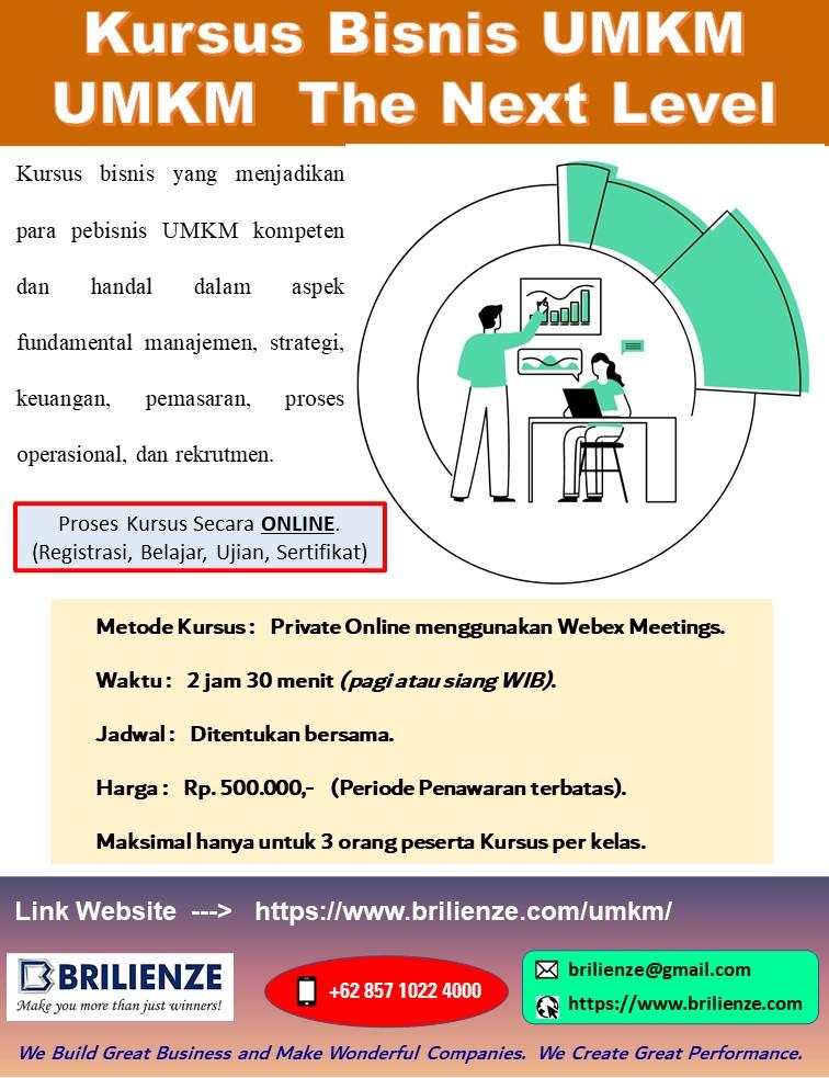 Kursus Private Bisnis UMKM : UMKM The Next Level