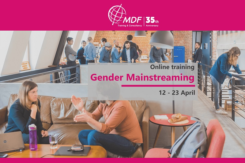 """Online training course """"Gender Mainstreaming"""" 12 - 23 April 2021"""
