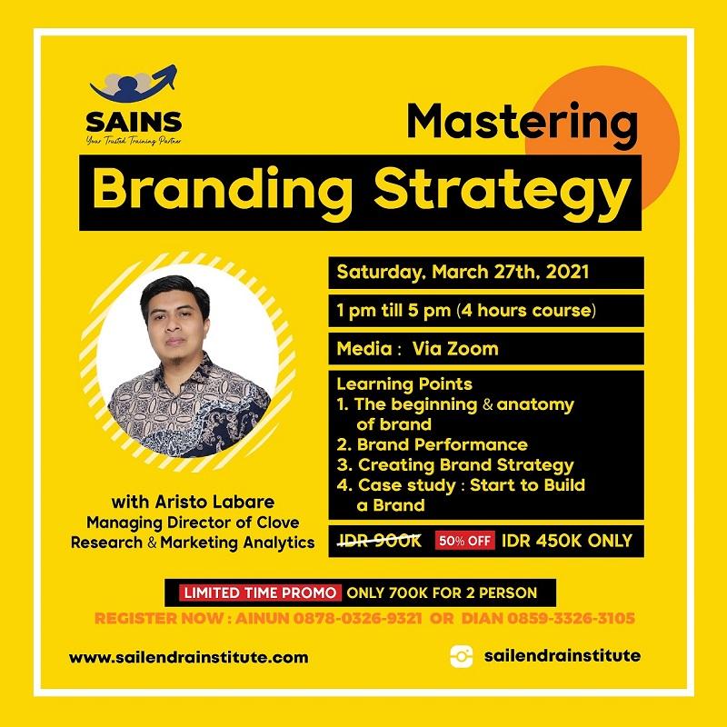 Judul : Mastering Branding Strategy Workshop