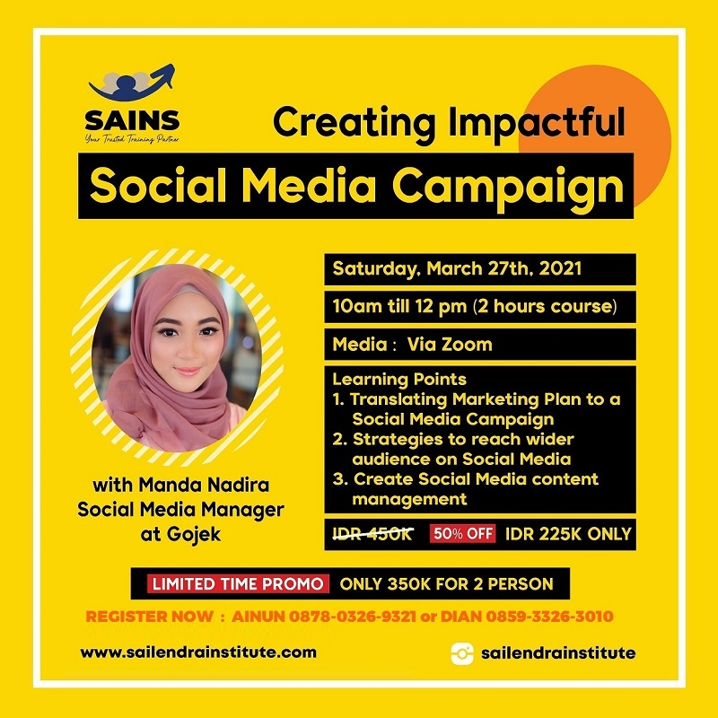 Creating Impactful Social Media Campaign – Online Class
