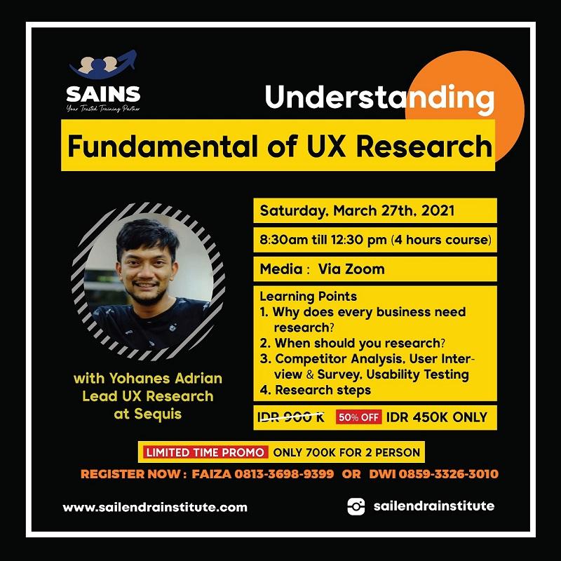 UX Research the Fundamental Understanding Workshop